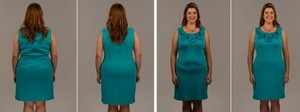 Визуальный эффект после применения корректирующего белья