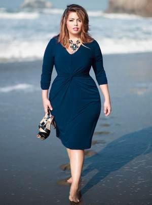 как женщине с полнотой подобрать красивое и нарядные платье