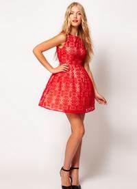 короткие платья с юбкой колокол
