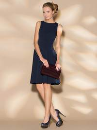 укороченное платье, дополненное юбкой в форме солнца