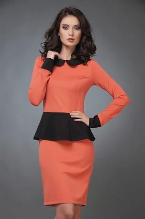 как подчеркнуть вашу красоту при помощи платья с контрастным воротником и манжетами