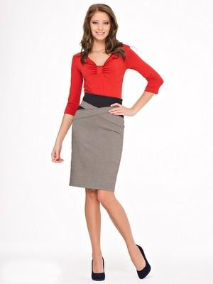 какие вещи и аксессуары лучше подходят для юбки-карандаш с завышенной линией талии?