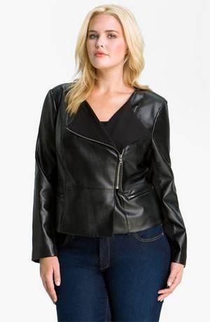 как выбрать женскую куртку большого размера. сделанную из кожи?