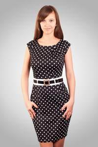 фасоны и модели платьев с принтом в форме горошка, цены, отзывы, аксессуары