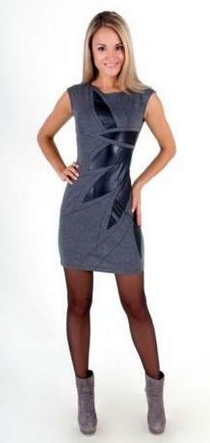 платье со вставками из кожи - советы по выбору, цены, отзывы, аксессуары