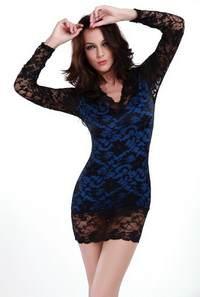 все о платьях синего цвета, дополненных черными кружевными элементами - стоимость, отзывы, аксессуары, советы по подбору
