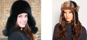 Как выбрать и с чем носить женскую шапку-ушанку из меха?