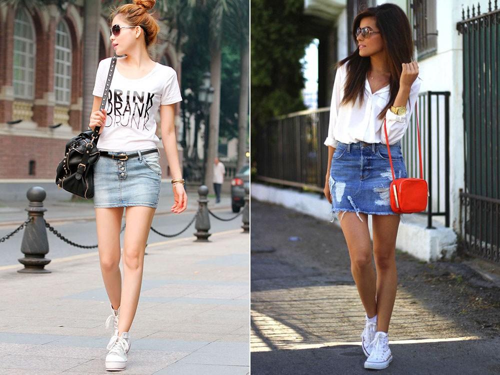 Как должны сидеть джинсовые юбки