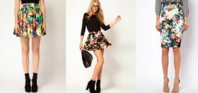 С чем носить юбку с цветами: создаем женственный образ