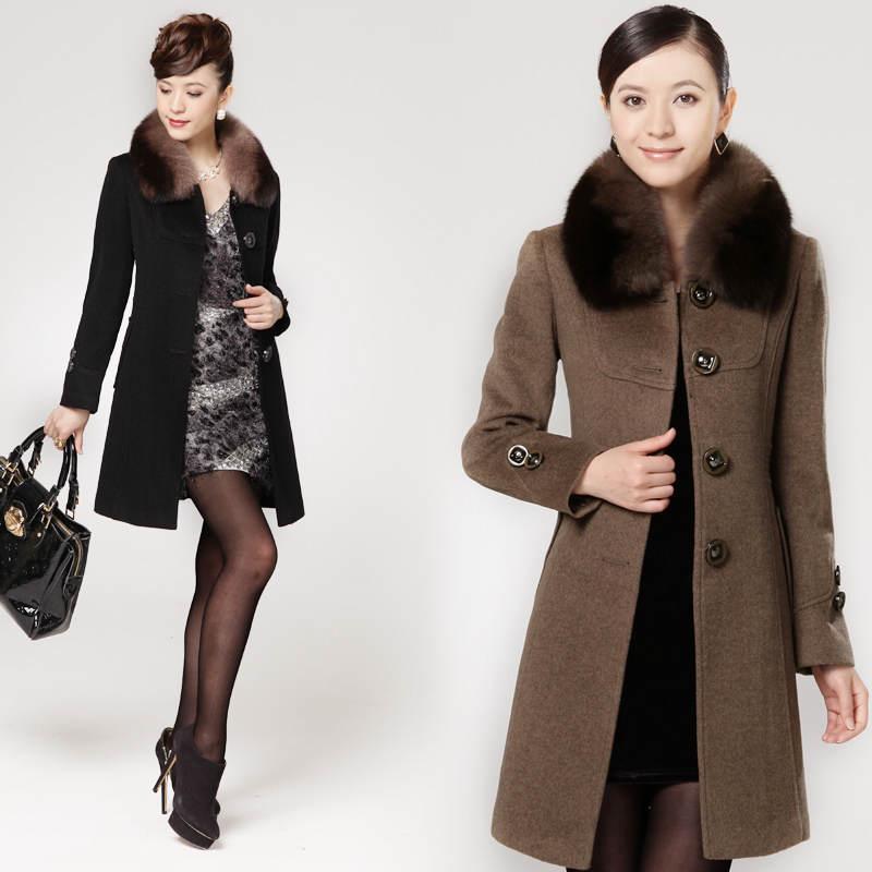 Женское Зимнее Пальто С Меховым Воротником Купить