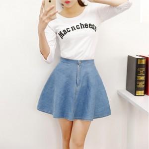 4fde3422f6c Для свидания выберите свободную джинсовую юбку по колено (от 20$) или  модель-солнце (от 15$), можно с украшением на подоле. С ней хорошо будет  смотреться ...