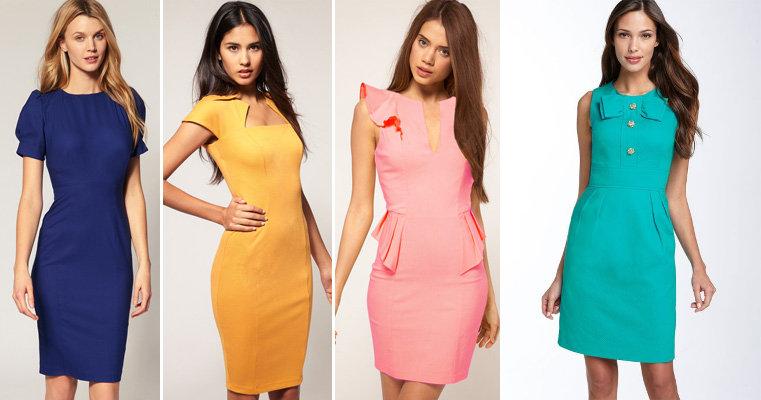 модели платьев для худеньких девушек фото