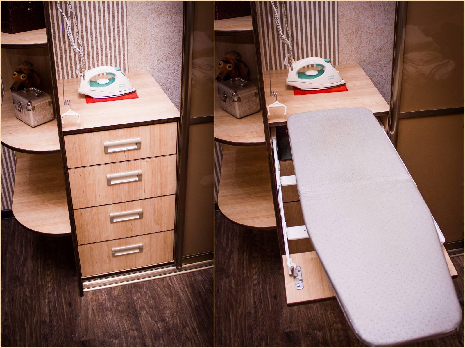 Как сделать встроенную гладильную доску в шкафу своими руками
