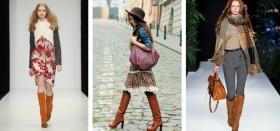 С чем можно носить рыжие сапоги: примеры удачных сочетаний