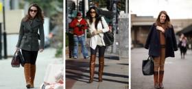 С чем можно носить коричневые сапоги: учимся комбинировать с остальными предметами гардероба