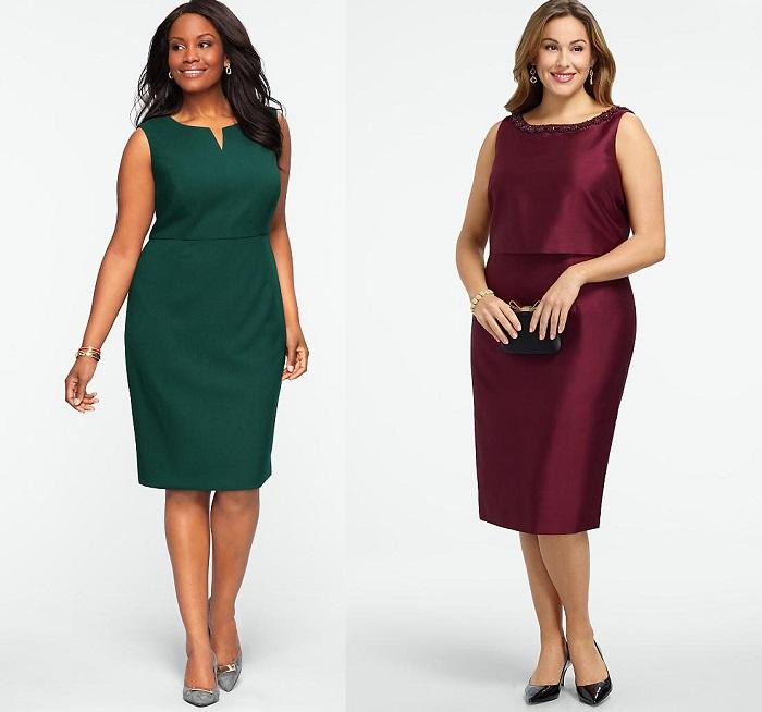 Платья для полных женщин
