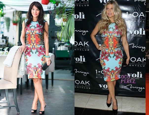 Платье с цветами с чем носить