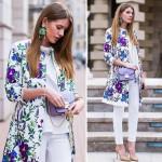 Пальто с цветами