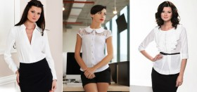 Где можно недорого купить белые блузки для офиса?