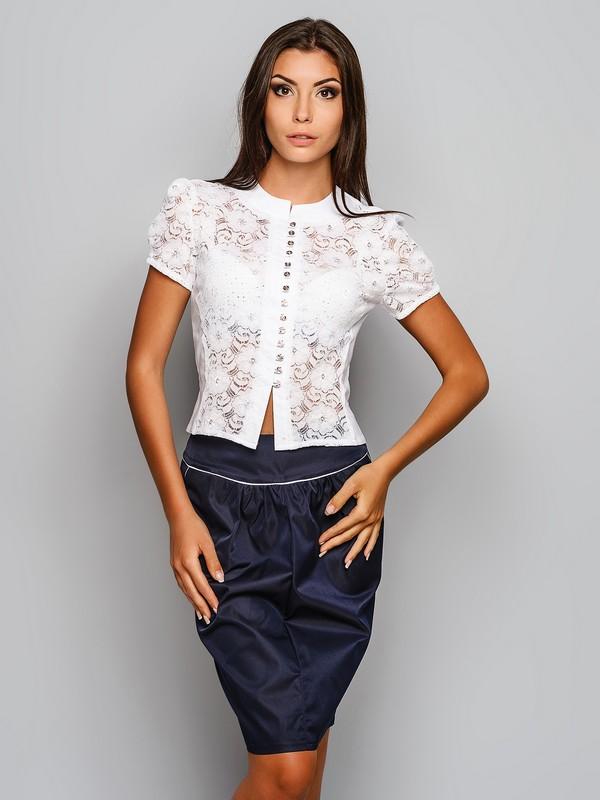 Женские блузки с гипюром