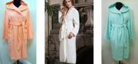 Где можно купить теплый и уютный женский махровый халат из 100% хлопка?