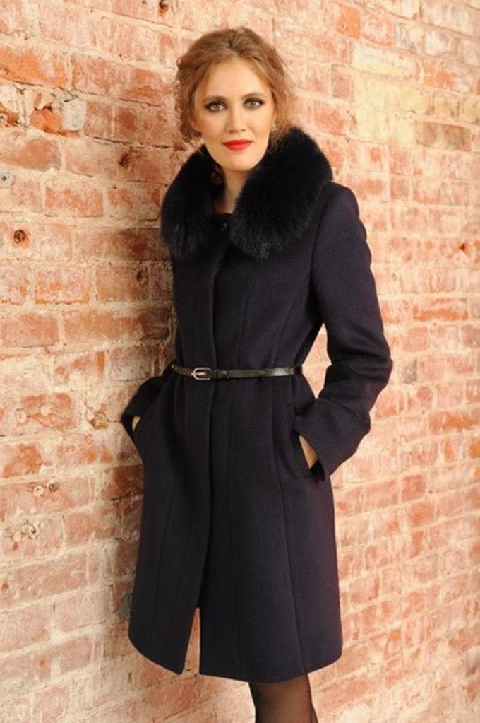Драповое женское зимнее пальто