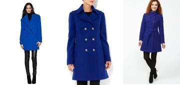 Как выбрать и с чем можно носить синее пальто?