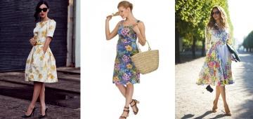 Женственное платье с цветами: с чем можно носить и как выбрать?