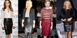 рекомендации по подбору вещей к кожаной юбки - самые интересные и модные варианты