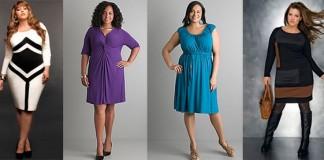 лучшие трикотажные платья, которые могут одеть женщины с полнотой