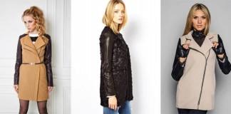 пальто с кожаными рукавами - сколько стоит, как выбрать, где купить
