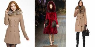 зимнее пальто с меховым воротником - цена, советы по выбору, с чем одеть, советы стилистов