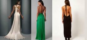 Платье в пол с открытой спиной: идеальный наряд на выход