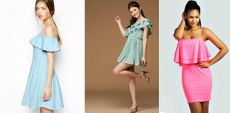 платья с воланом