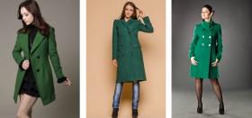 Как выбрать и с чем носить зеленое пальто?
