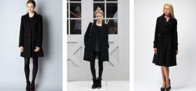 Черное пальто: с чем носить базовую вещь женского гардероба?