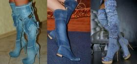 В каких интернет-магазинах можно купить джинсовые летние сапоги?