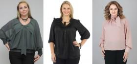 Стильные блузки для полных женщин, которые их стройнят