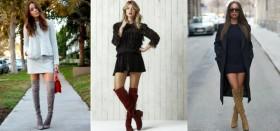 Обувь для ярких и смелых девушек: что носить с ботфортами на каблуке?