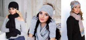 В каких интернет-магазинах можно купить женский комплект из шапки и шарфа?