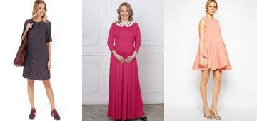 Интересные платья для беременных, скрывающие живот